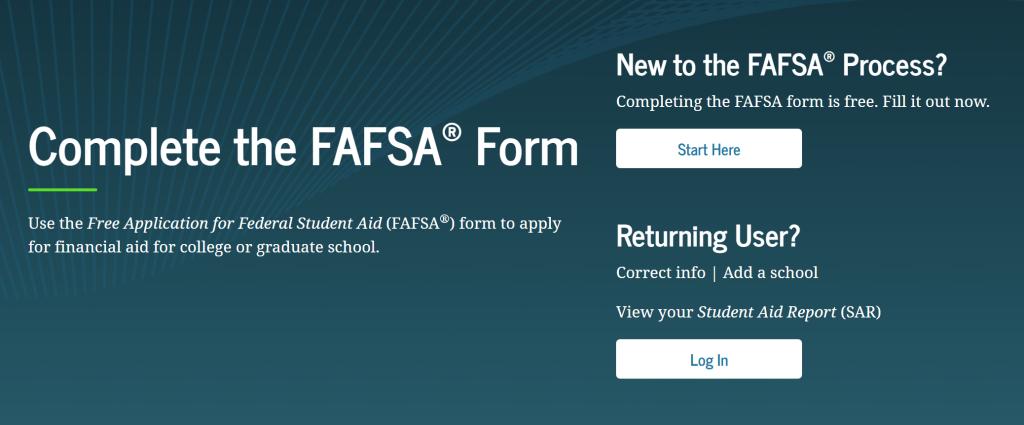 FAFSA Webportal